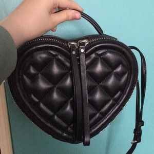 Marc by Marc Jacobs heart crossbody leather purse